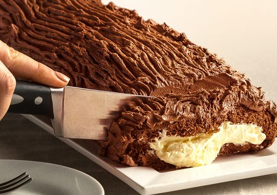 Iced is always nice, especially in this delectable Christmas Yule Log recipe. Just made for sharing.
