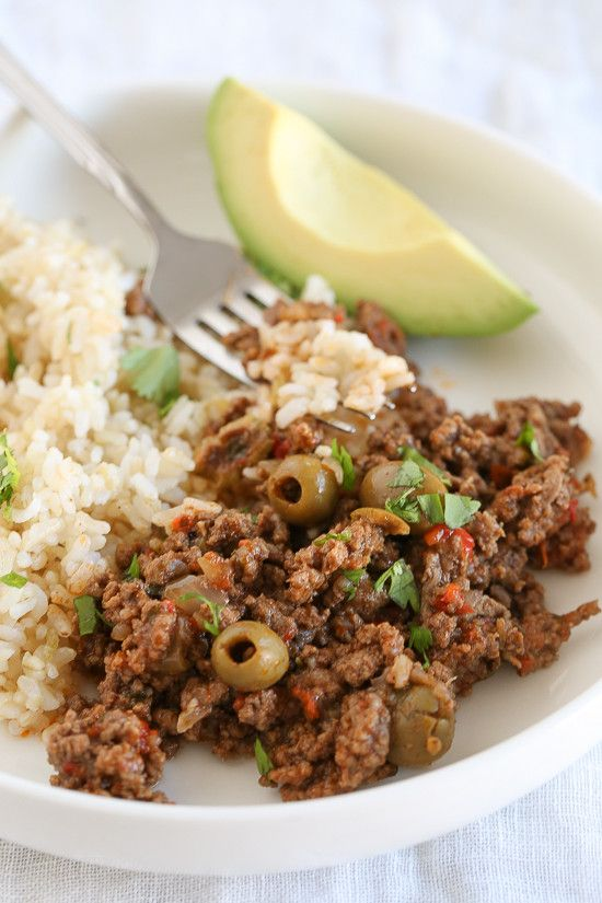 Picadillo is the most requested dish by my kids and it's so easy to make. We love it served over brown rice (or cauliflower rice) in tacos and more! This pressure cooker version gets dinner on the table fast!