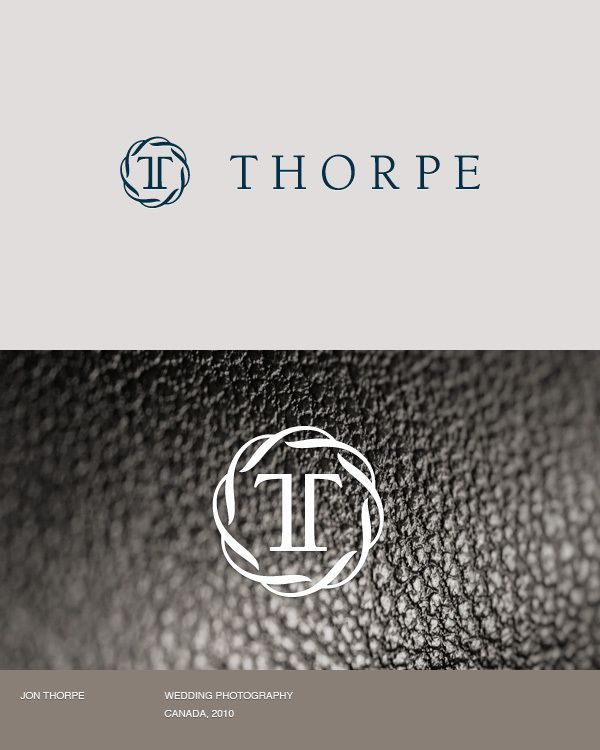 LogoJon Thorpe, Wedding Photography, Photography Logo, Thorpe Logo, Identity Design, Wedding Logotype, Logotype Design, Corporate Brand, Logo Brand