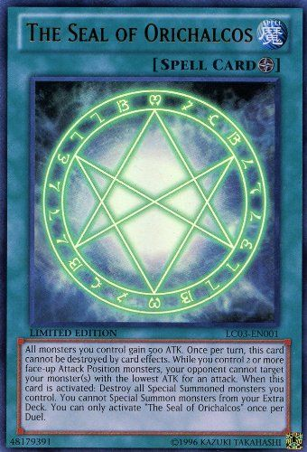 Yu-Gi-Oh! - The Seal of Orichalcos (LC03-EN001) - Legendary Collection 3: Yugi`s World - Limited Edition - Ultra Rare