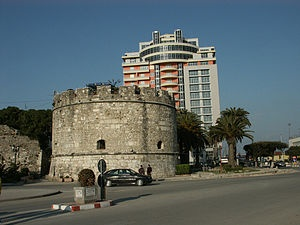 Durrës Castle (Albanian:Kalaja e Durrësit) is a castle in Durrës, Albania. It was build by Emperor of the Byzantine Empire Anastasius I originating from Durres, which transformed it into one of the most fortified cities on the Adriatic. Repairs to walls have been carried out after the devastating earthquake of 1273. Currently medieval walls nearly 15 feet in height and three entrances of some fortification towers preserved in nearly one third of the initial length of the city castle.