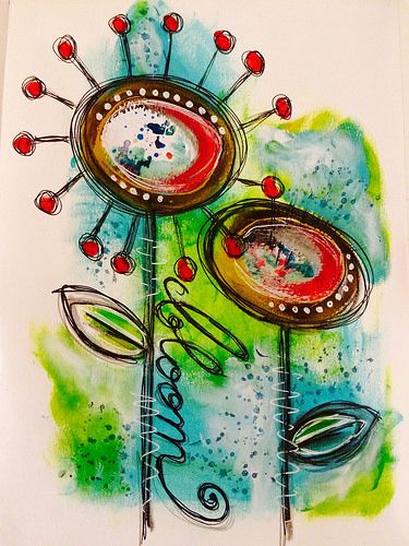 Bloom - art journal page | Tracy Scott | Flickr