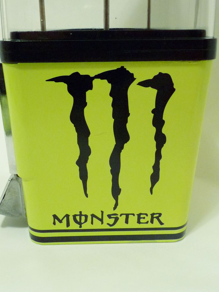 Vintage Komet Gumball Candy Machine MONSTER ENERGY DRINK