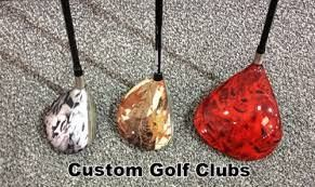 Golf Clubs given the Hydrographic dip treatment