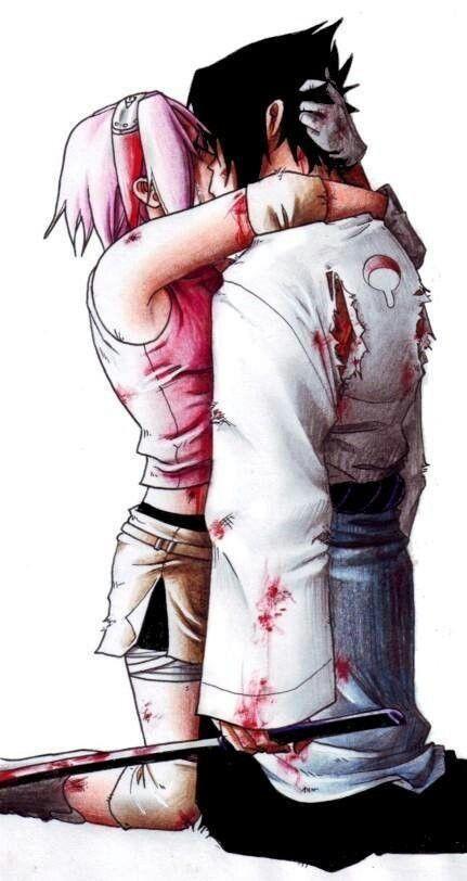 Sakura and  Sasuke <3 how it should be