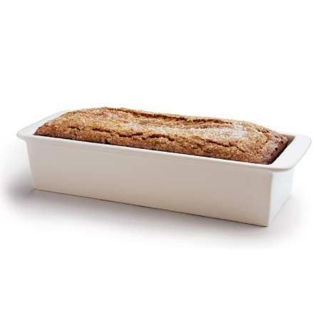 """Tea Loaf Pan - Stoneware $14.95 //  12"""" x 4"""" x 2½"""" tea loaf pan holds the equivalent of a 9"""" x 5"""" loaf pan. Playing card-sized slices.  // Great reviews on King Arthur website"""