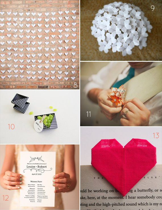 21 Awesome Origami Wedding Ideas -