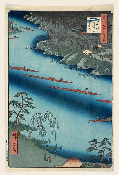 Kawaguchi  Utagawa Hiroshige (Japanese, Tokyo (Edo) 1797–1858 Tokyo (Edo))  Date: 1857 Culture: Japan Medium: Polychrome woodblock print; ink and color on paper  The Metropolitan Museum of Art
