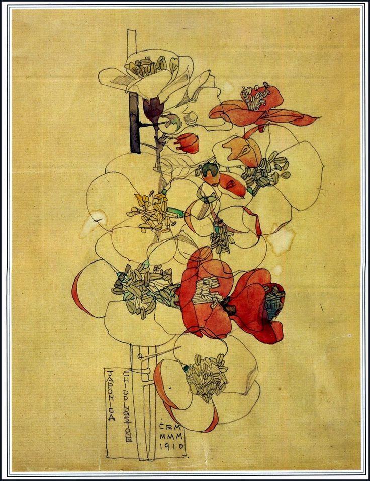 Charles Rennie Mackintosh ~ japonica ~ 1910