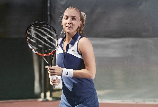 Roland Garros 2014: tenue Lacoste d'Elena Vesnina