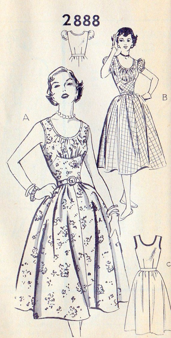 1950s Misses Party Dress Summer Dress by MissBettysAttic on Etsy, $14.00