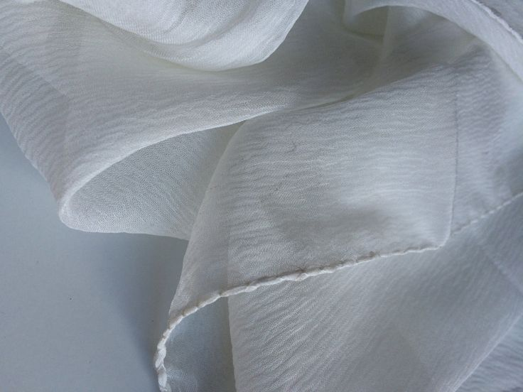 Silk scarf,undyed silk scarf,home dying projects,ethical handmade silk scarf,silk fabric for home dying. by Yarnyarnyarns on Etsy