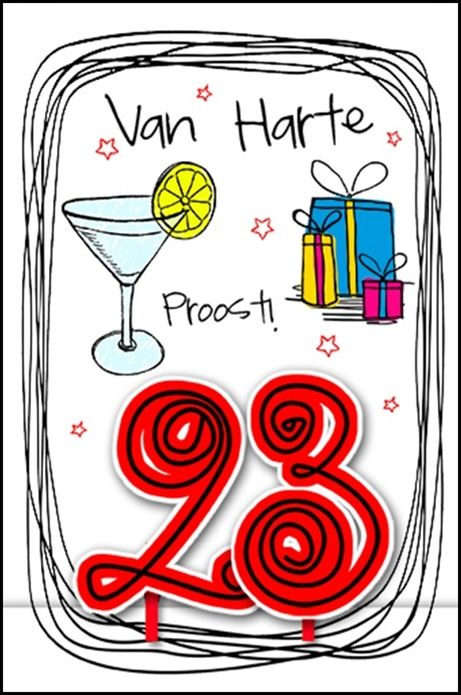 """Age Mania""leuke verjaardagskaarten in getekende stijl."