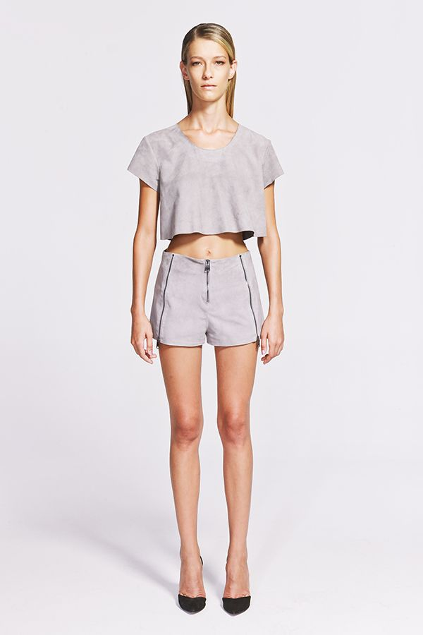 Caia Suede Crop Top Süet Üst  https://www.jibeoh.com/product/listing/76/caia_crop_top