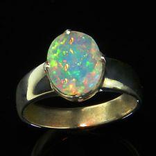 Sehr schöner 925er Silber Ring mit  natürlichem Opal - S3866