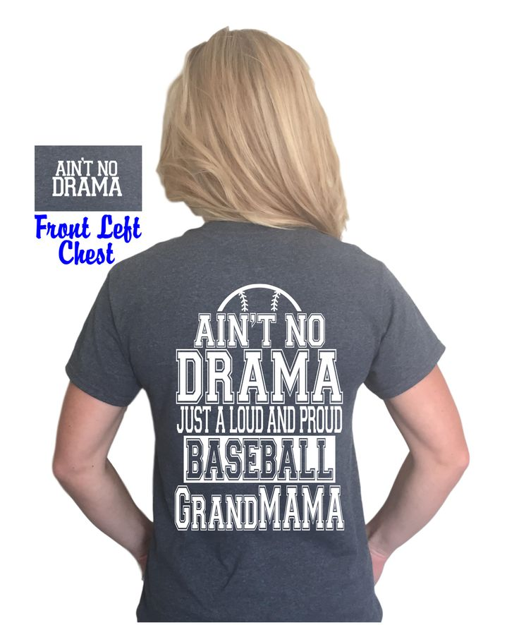 Ain't no drama just a loud and proud baseball grandmama shirt, Baseball grandma t-shirt