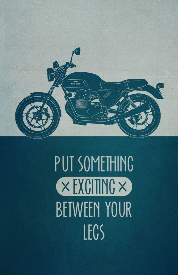 I want my own bike!!! / Biker Art Print by Carina Wagner, via Behance