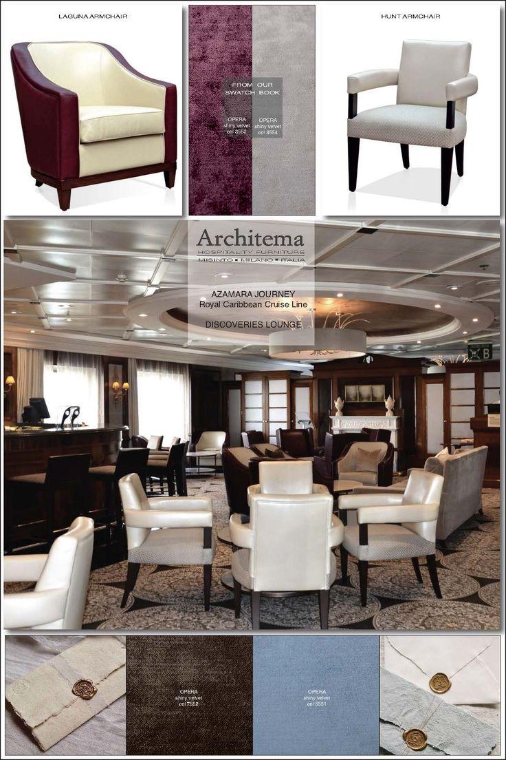 ARCHITEMA  HOSPITALITY FURNITURE - our furniture onboard AZAMARA JOURNEY cruise line : LAGUNA armchair & HUNT armchair
