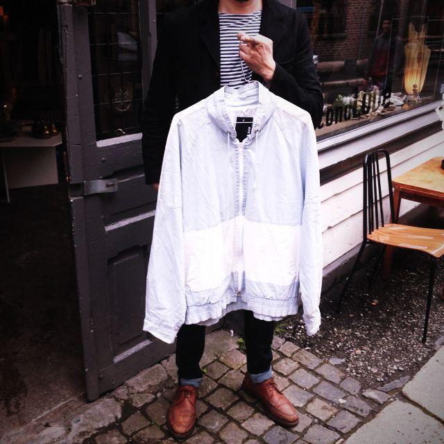 Denim jacket# one of a kind# soft# stockholm# #hybridshopping #bergen