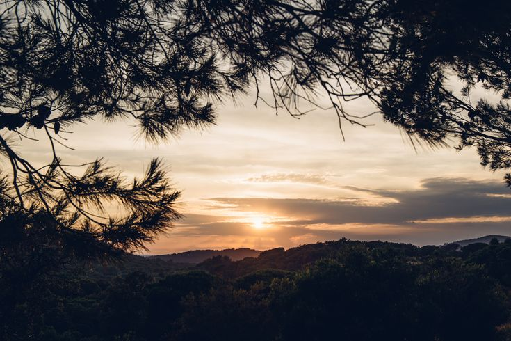 la garde freinet, golfe de saint tropez, sunset