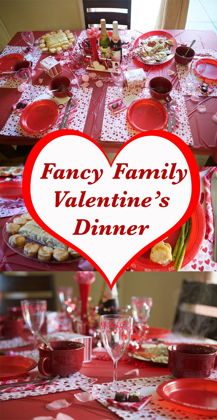 Family Friendly Fancy Valentine Dinner - such a fun tradition for Valentine's Day and then can avoid the crowded restaurants too!