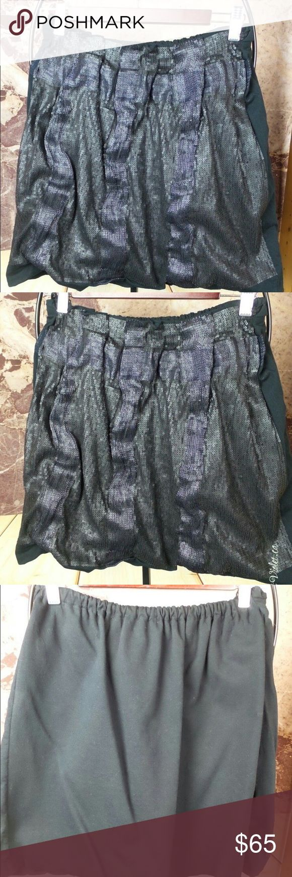 Prada Black Cotton Sequin Boned Bubble Skirt SZ S Prada Black Cotton Low Shine Sequin Lightly Boned Bubble Skirt SZ S Prada Skirts Mini
