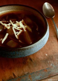 Gekarameliseerde uiensoep #comfortfood #recept #foodblog #kookgewoon