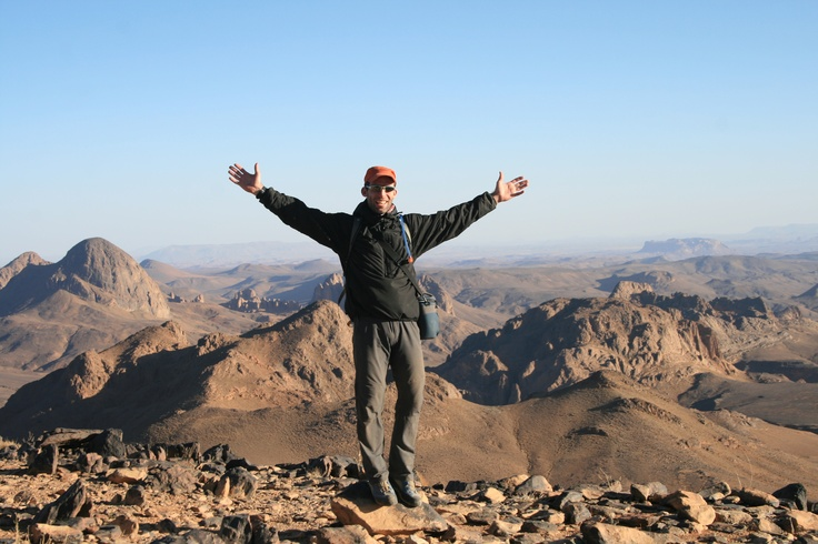 Assekrem, leading a trek in the Hoggar Mountains, Algeria, 2011 #greatwalker
