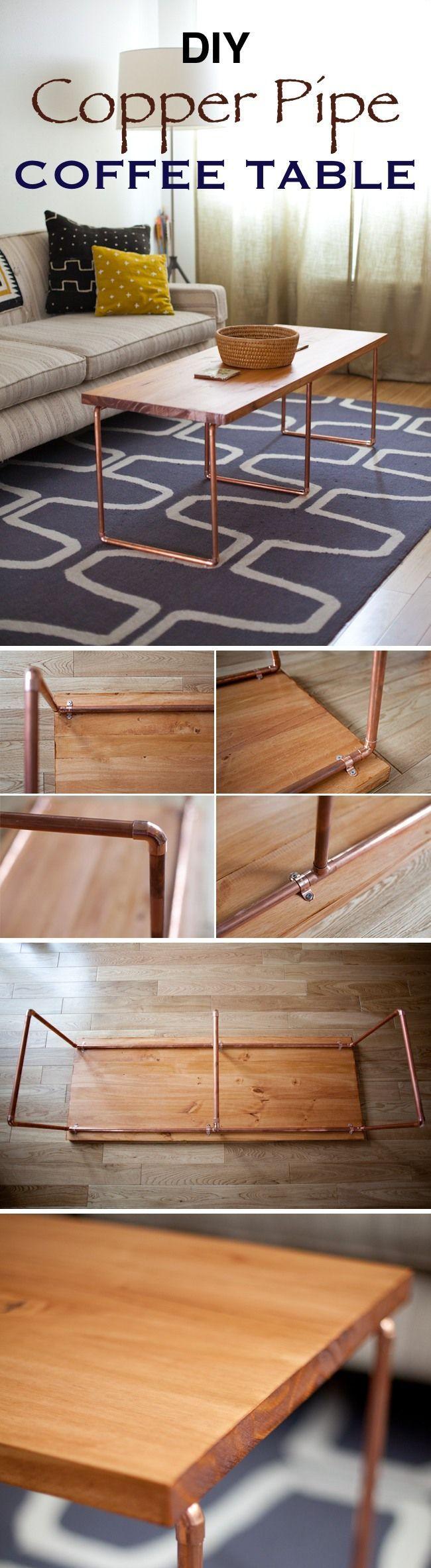 DIY Kupferrohr Couchtisch / Machen Sie diesen schönen minimalistischen DIY Co