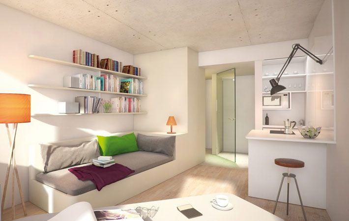 Studentenzimmer mieten - Modern, hochwertig, günstig - MILESTONE - innendesign aus polen femininer note