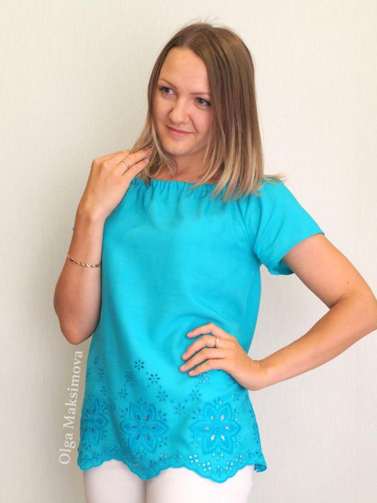 Мастер-класс по пошиву летней блузки с кружевом по простой выкройке для начинающих.