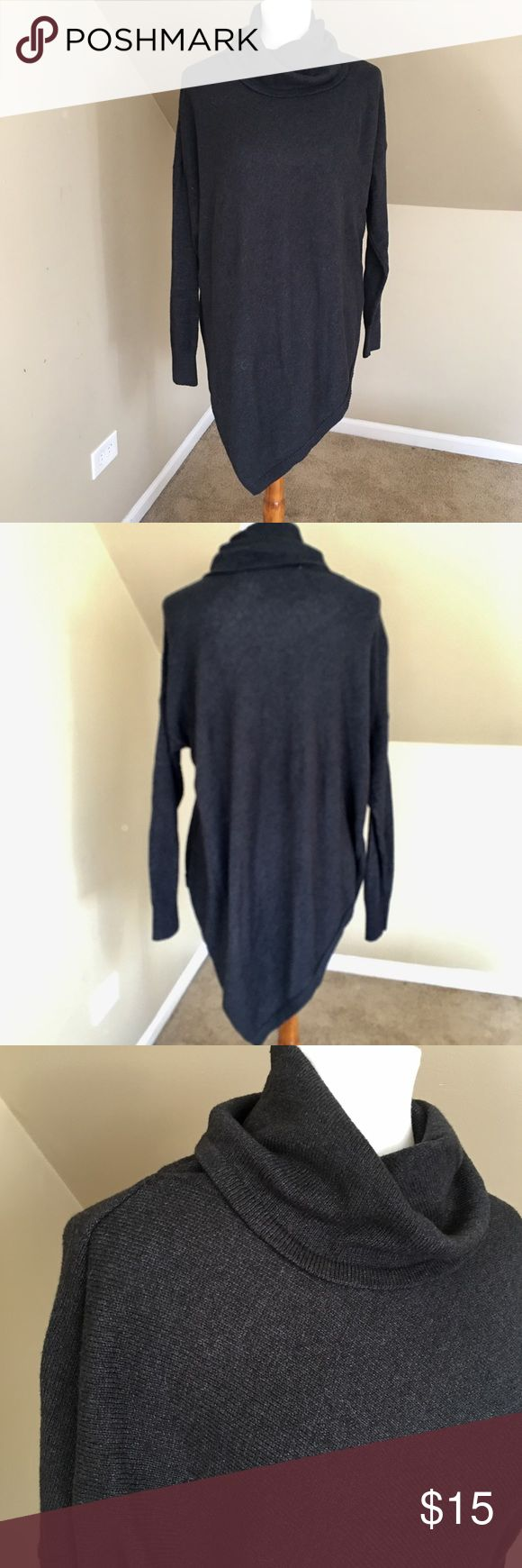 Old Navy Tunic Sweater Asymmetrical hem, soft, comfy Tunic sweater.  So cute paired with leggings, tall boots or skinnny jeans.  Great condition. Old Navy Sweaters