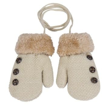 Fashion Newborn Baby Boy Girl Faux Fur Knitted Gloves Mittens For Winter Amazing JL 26 New