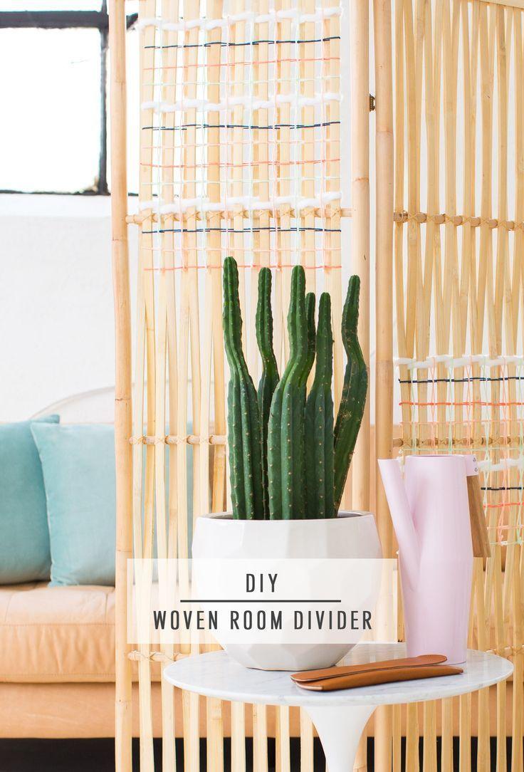 DIY Ikea Hack Woven Room Divider. Diy MöbelDiy Deko ...