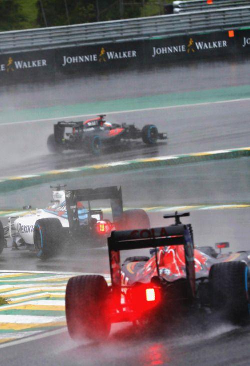 Daniil Kvyat, Felipe Massa & Fernando Alonso l Brazil 2016