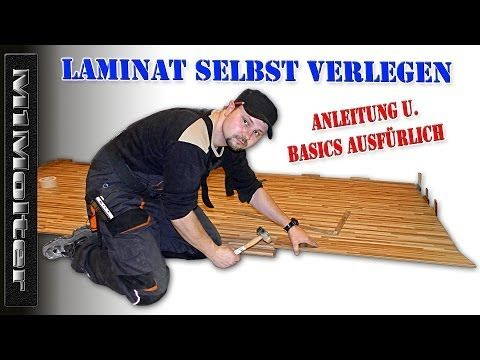 Laminat selbst verlegen - Anleitung & Basics ausfürlich von M1Molter - YouTube