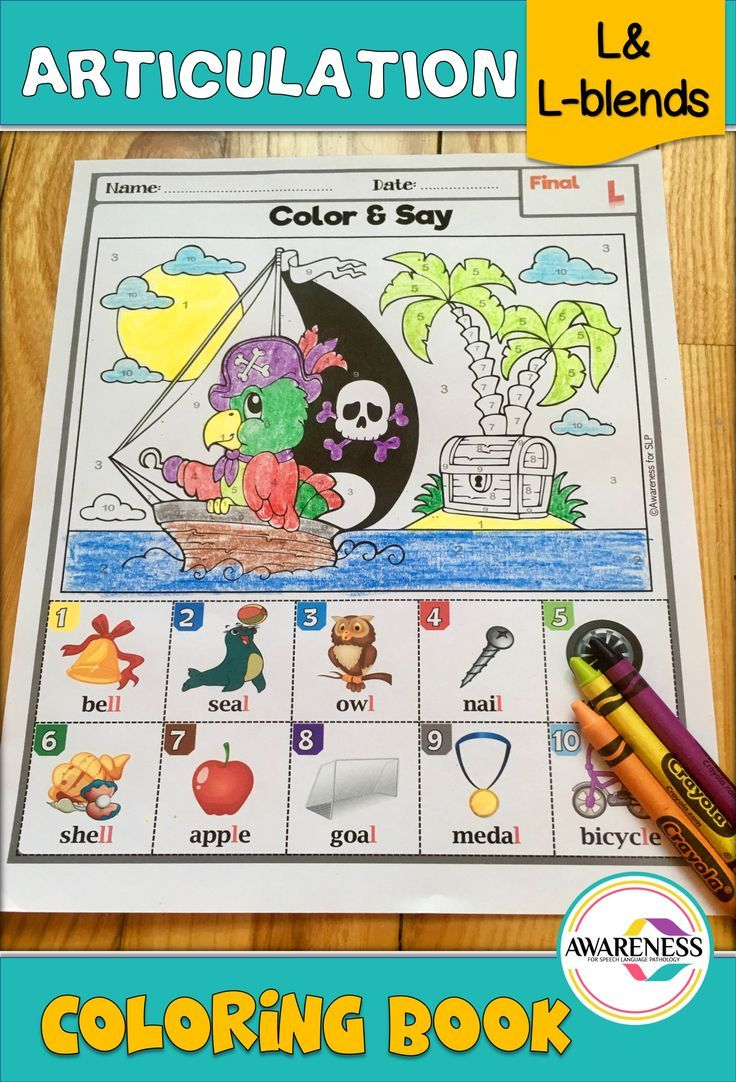 Articulation activity l and l blends coloring book articulation activities speech therapy and therapy ideas