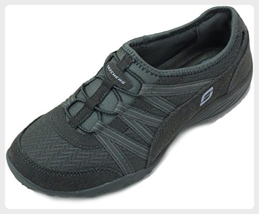 Skechers Ladies 6.5 Movin Easy Relaxed Fit with Memory Foam Shoes Charcoal