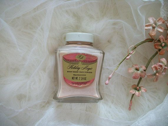vintage cosmetics, holiday magic translucent powder, moon magic, usa