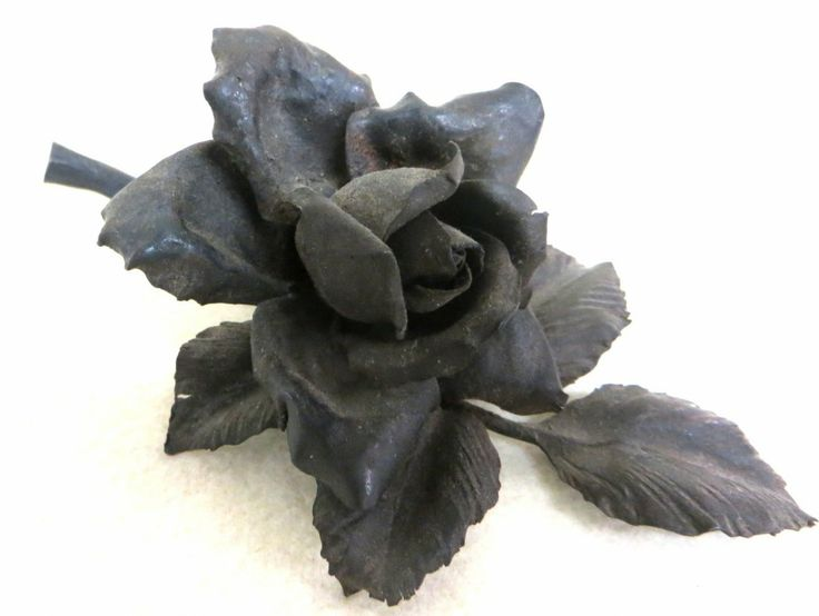 19th cent. hand-forged iron rose
