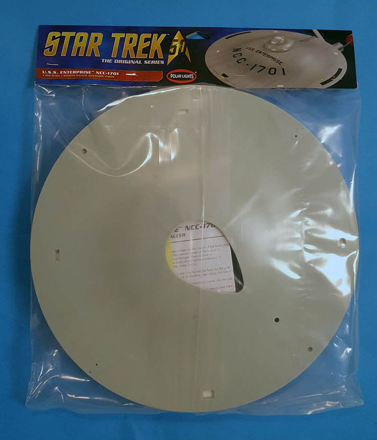 Polar Lights - Smooth Saucer - Star Trek TOS 1/350 - designed to replace ugly engraved version in original kit - bagged - no box!