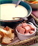 This creamy Warm Beer and Cheese Fondue snack is a sure-fire crowd pleaser. Make sure to keep the fondue over heat so the cheese stays melted. #recipe #WWLoves