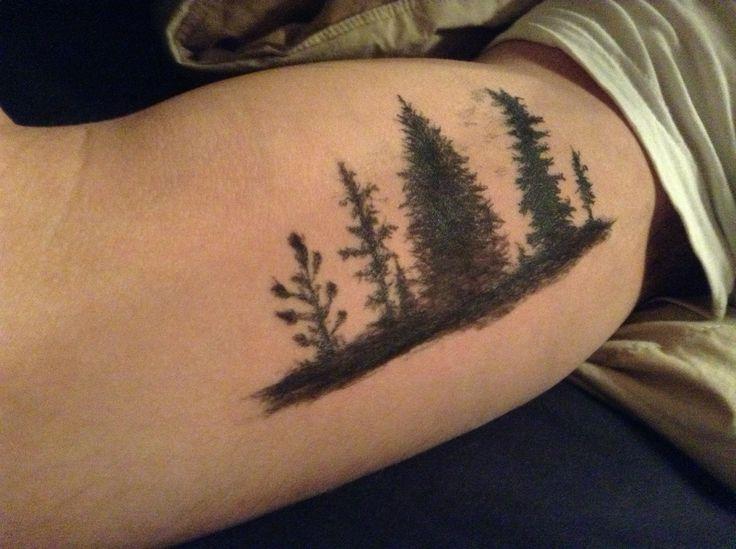 cool tattoo idea manly tattoo nature tattoo forest tattoo men 39 s tattoo art body art tattoo. Black Bedroom Furniture Sets. Home Design Ideas