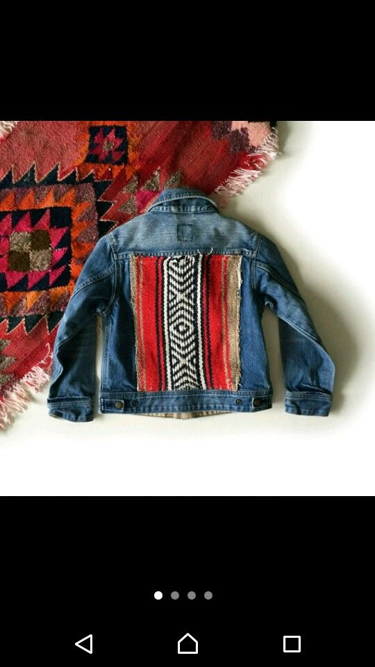 Customised denim jacket ethnic childrens insoiration