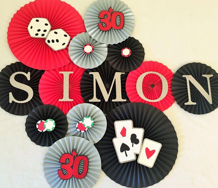 Poker Night Theme Backdrop- Set of 13, Poker Night, Game Night, Casino Night, Vegas Party, Guys Night Out, Card Game by #pleatsonsheets