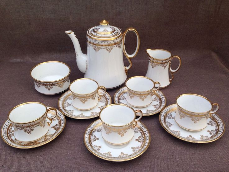 ROYAL ALBERT CROWN CHINA VINTAGE. COFFEE SET in Pottery, Porcelain & Glass, Porcelain/ China, Royal Albert, Tableware | eBay