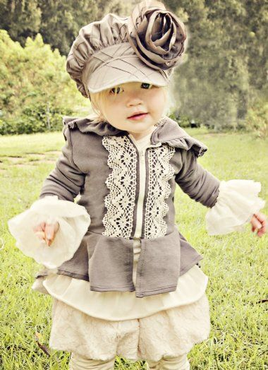 How adorable is this?? Persnickety Grey Victoria Collection12 Months to 12 Years