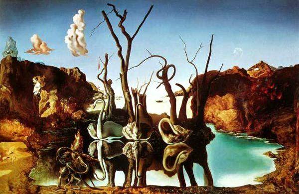 Salvador Dali Swans Reflecting Elephants