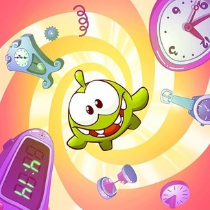 Om Nom has stumbled upon a time machine in our new Cut the Rope: Time Travel game.