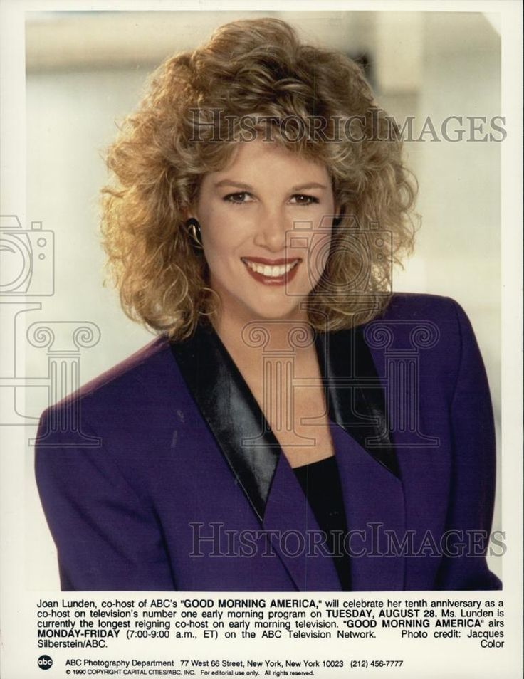 team joan lunden | Details about 1990 Press Photo Good Morning America Host Joan Lunden